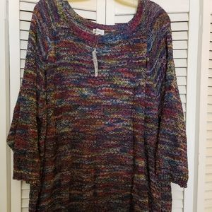 Multi-colored plus sized sweater NWT